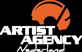 Artist Agency Nederland _ Logo_nieuw_flat_wit_oranje